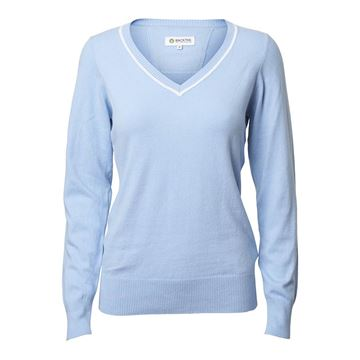 Golf dame pullover solid stretch, bluebell, Backtee