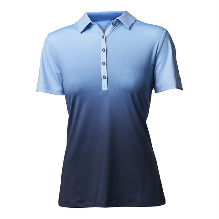 Golf polo dame dip dye, bluebell, Backtee