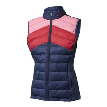 Golf dame vest quilt, navy, Backtee